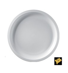 Prato de Plastico Branco Ø290mm (25 Uds)
