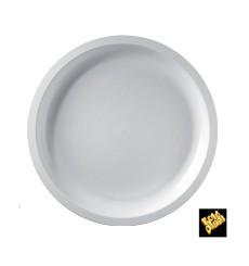 Bandeja de Plastico Branco Ø290mm (150 Uds)