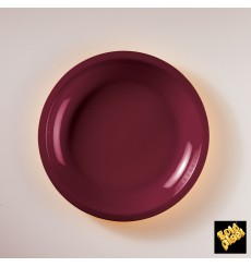 Prato Plastico Raso Ouro Ø220mm (50 Uds)