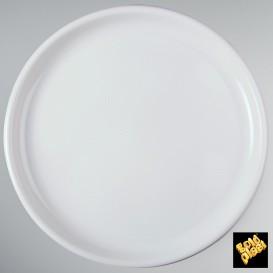 Prato de Plastico para Pizza Branco Ø350mm (72 Uds)