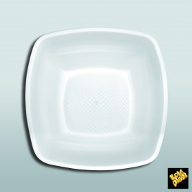 Prato Plastico Fundo Branco 180mm (150 Uds)