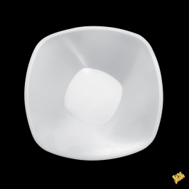 Tigela de Plastico Branco Square PP Ø210mm 1250ml (3 Uds)