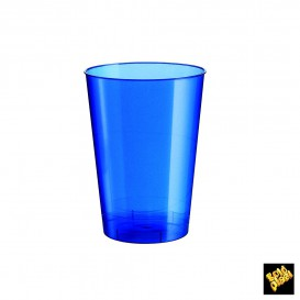 Copo Plastico Moon Cristal Azul Pearl PS 230ml (500 Uds)