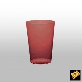 Copo Plastico Moon Cristal Bordeaux Transp. PS 230ml (35 Uds)