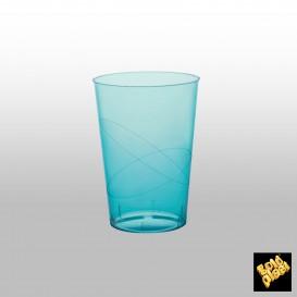 Copo Plastico Moon Cristal Turquesa Transp. PS 230ml (50 Uds)