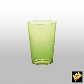 Copo Plastico Moon Cristal Verde Limão Transp. PS 230ml (50 Uds)