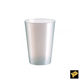 Copo Plastico Moon Cristal Branco Pearl PS 230ml (50 Uds)