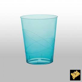 Copo Plastico Moon Cristal Turquesa Transp. PS 320ml (20 Uds)