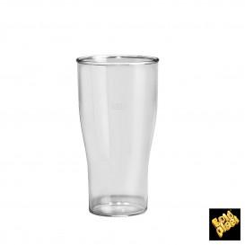 Copo Plastico para Cerveja Transp. SAN Ø73mm 350ml (5 Uds)
