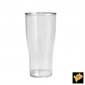 Copo Plastico para Cerveja Transp. SAN Ø80mm 400ml (80 Uds)