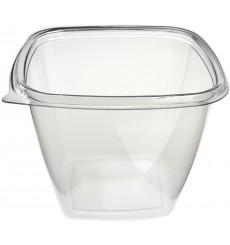 Tigela de Plastico Quadrado Saladeira PET 500ml (50 Uds)