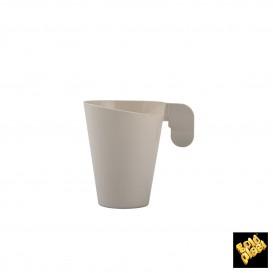 Chavena Plastico Café Design Creme 72ml (240 Uds)