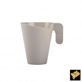 Chavena Plastico Design Creme 155ml (12 Uds)