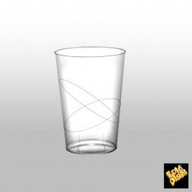 Copo Plastico Moon Cristal Transparente PS 230ml (50 Uds)