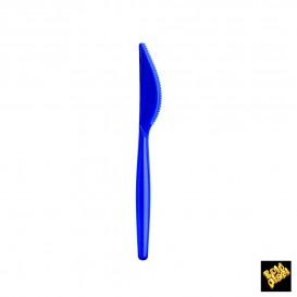 Faca de Plástico Easy PS Azul Perle 185mm (20 Unidades)
