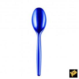 Colher de Plástico Easy PS Azul Perle 185mm (20 Unidades)