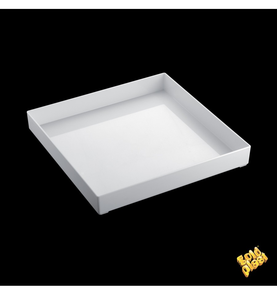 bandeja plastico tray branco 30x30cm 1 unidades. Black Bedroom Furniture Sets. Home Design Ideas