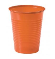 Copo de Plastico Laranja PS 200 ml (1500 Unidades)