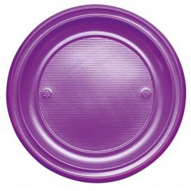 Prato Plastico PS Raso Violeta Ø220mm (30 Unidades)