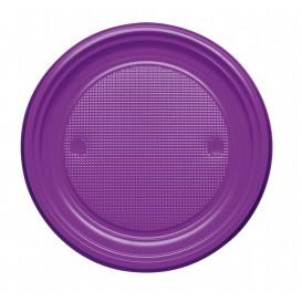 Prato Plastico PS Raso Violeta Ø170mm (50 Unidades)