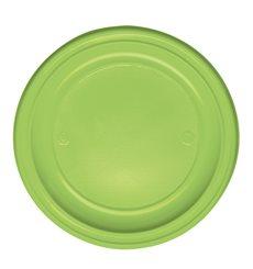 Prato Plastico Raso Verde PS 220 mm (30 Unidades)