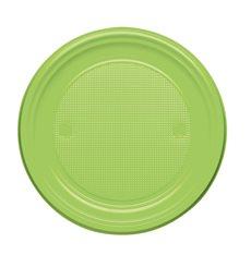 Prato Plastico Raso Verde PS 170mm (50 Unidades)