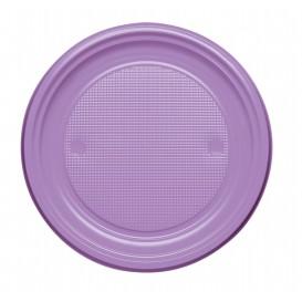 Prato Plastico Raso Lilás PS 170mm (50 Unidades)
