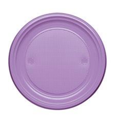 Prato Plastico Raso Violeta PS 170mm (1100 Unidades)