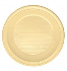 Prato Plastico Fundo Creme PS 220 mm (600 Unidades)