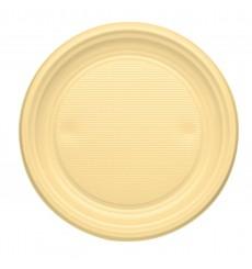 Prato Plastico Raso Creme PS 170mm (1100 Unidades)