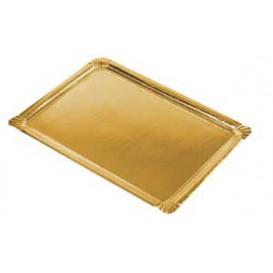 Bandeja de Cartão Rectangular Ouro 22x28cm (100 Uds)