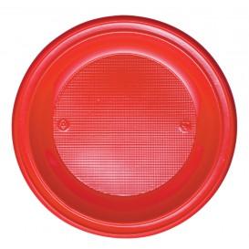 Prato Plastico PS Fundo Vermelho Ø220mm (30 Unidades)