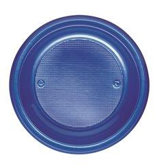 Prato Plastico Fundo Azul Escuro PS 220 mm (30 Unidades)