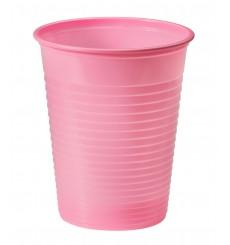 Copo de Plastico Rosa PS 200 ml (50 Unidades)