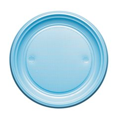 Prato Plastico Raso Azul Escuro PS 170mm (50 Unidades)