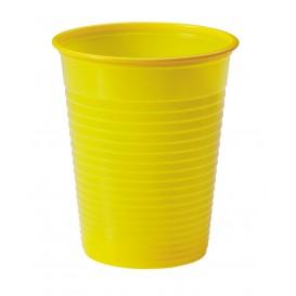 Copo de Plastico PS Amarelo 200ml Ø7cm (50 Unidades)