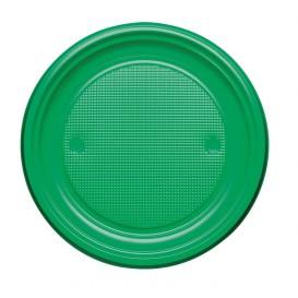 Prato Plastico PS Raso Verde Ø170mm (50 Unidades)