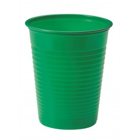 Copo de Plastico PS Verde 200ml Ø7cm (50 Unidades)