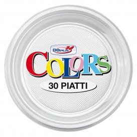 Prato Plastico PS Raso Transparente Ø220mm (30 Unidades)