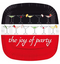 Prato Cartone Quadrado ''Joy of Party'' 230mm (8 Unidades)