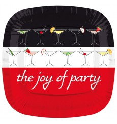 Prato Cartone Quadrado ''Joy of Party'' 170mm (200 Unidades)