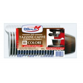 Chavena de Plastico PS Chocolate 100 ml (480 Unidades)