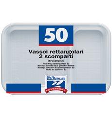 Bandeja de Plastico Branco 2C 270x180mm (50 Uds)