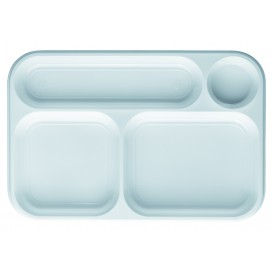 Bandeja de Plastico PS Branco 4C 360x240mm (100 Uds)