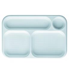 Bandeja de Plastico Branco 4C 360x240mm (100 Uds)