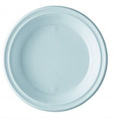 Prato Plastico Raso PS Branco 205 mm (100 Unidades)
