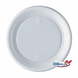 Prato Plastico PS Raso Branco 170mm (100 Unidades)