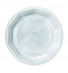Prato Plastico Fundo Branco PS 220 mm (100 Unidades)