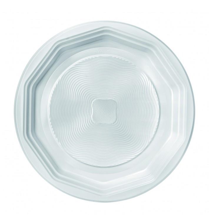 """Prato Plastico PP Raso Branco """"Deka"""" 220 mm (100 Unidades)"""