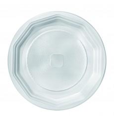 Prato Plastico Raso Branco PS 220 mm (100 Unidades)